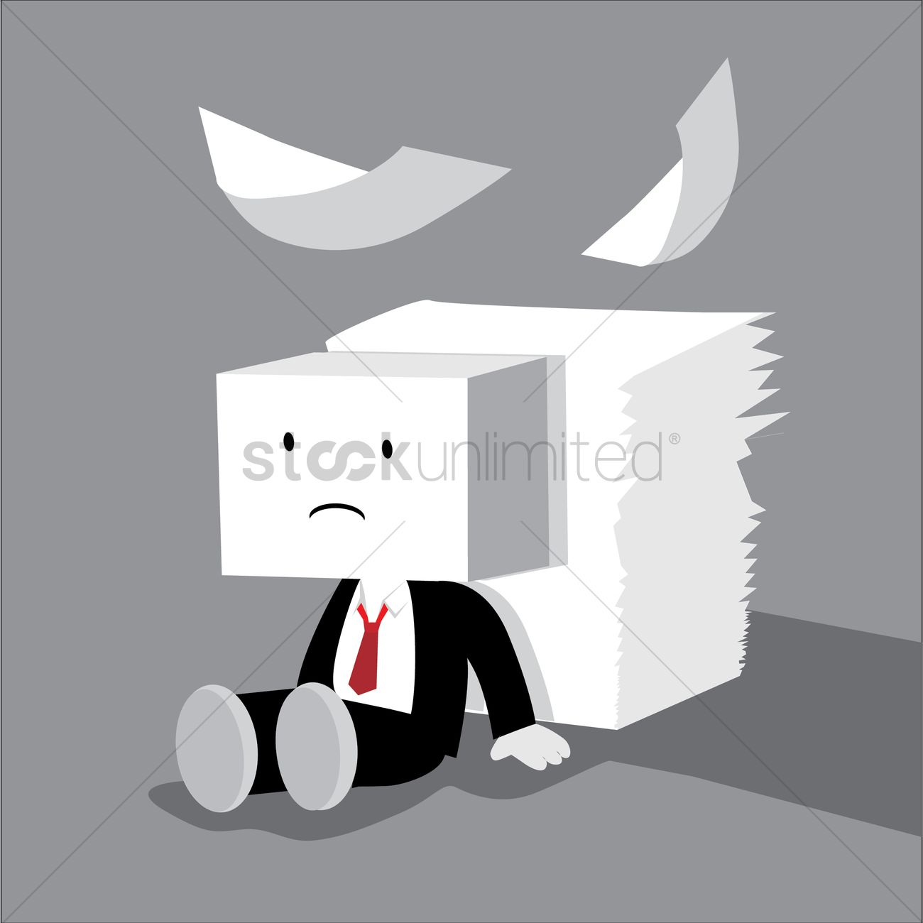 1300x1300 Businessman Tired Vector Image