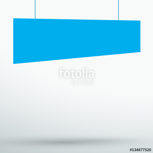 500x500 Infographic 1 Blue Title Boxes Hanging 3d Vector Stock Image And