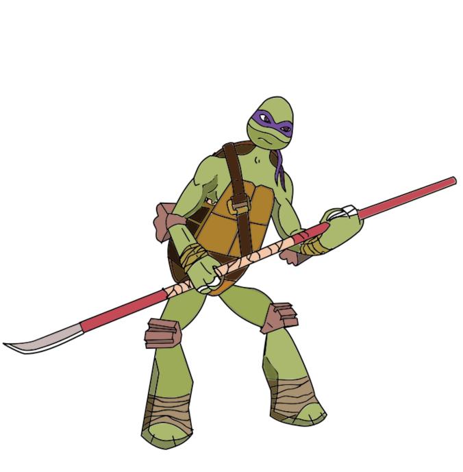 676x689 Tmnt Donatello Vector Drawing
