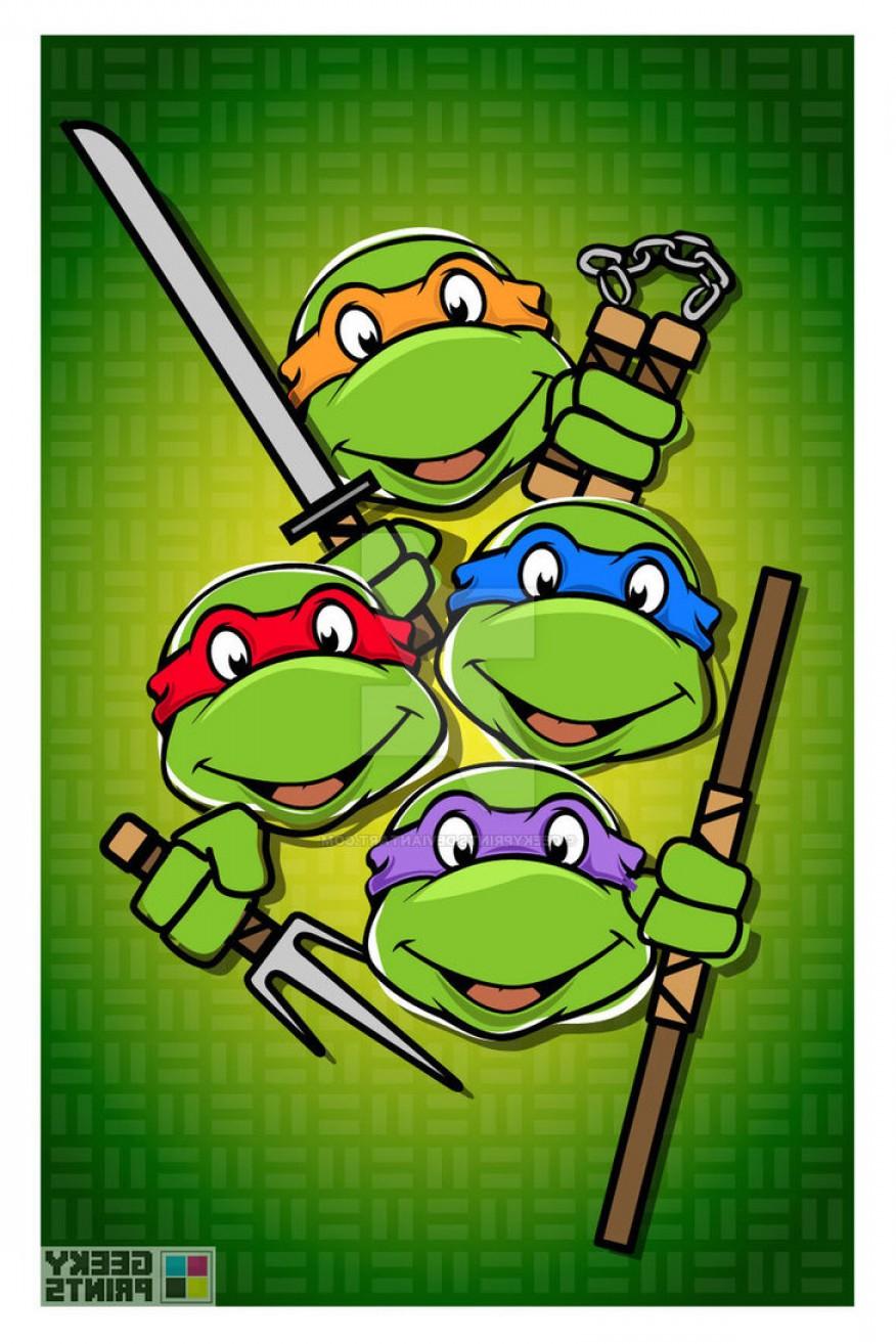 876x1314 Teenage Mutant Ninja Turtles Vector Art Lazttweet