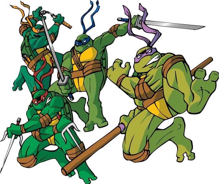 703x592 Teenage Mutant Ninja Turtle Heads With Scarf Cartoon Clipart