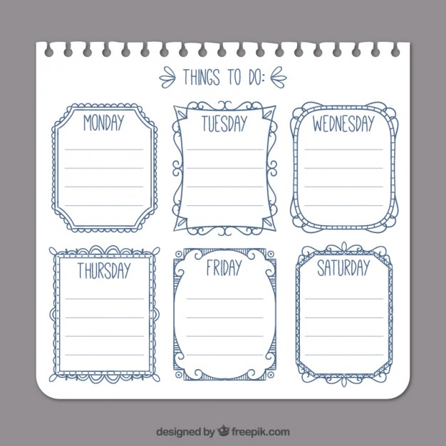 626x626 Simple To Do List Template Vector Free Download