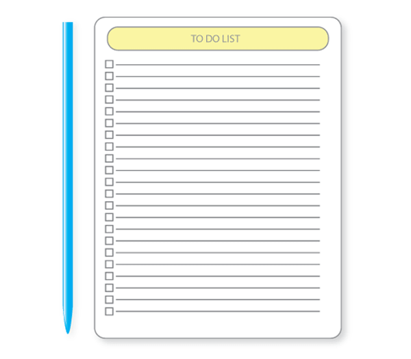 600x525 To Do List Vector 123freevectors