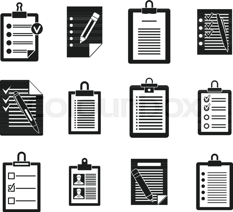 800x727 To Do List Icon Set. Simple Set Of To Do List Vector Icons For Web