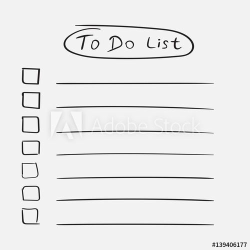 500x500 To Do List Icon With Hand Drawn Text. Checklist, Task List Vector