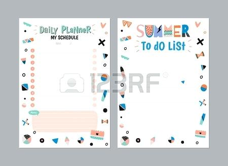 450x327 Weekly And Daily Planner Stock Vector Free Printable Organizer