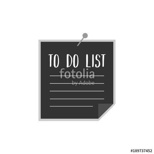 500x500 Dark Grey Paper, To Do List With Pin. To Do List Vector Graphic