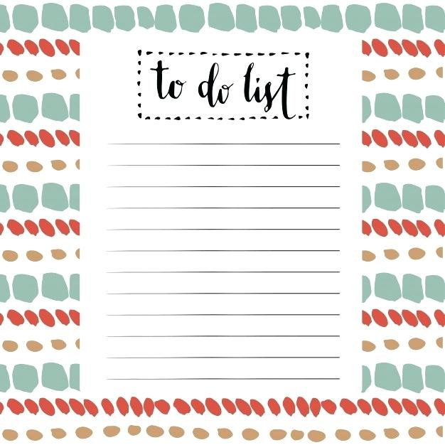 626x626 Download Cute Pink Blue Printable To Do List With Circle Stock