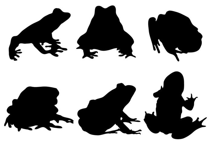 700x490 Free Frog Silhouette Vector