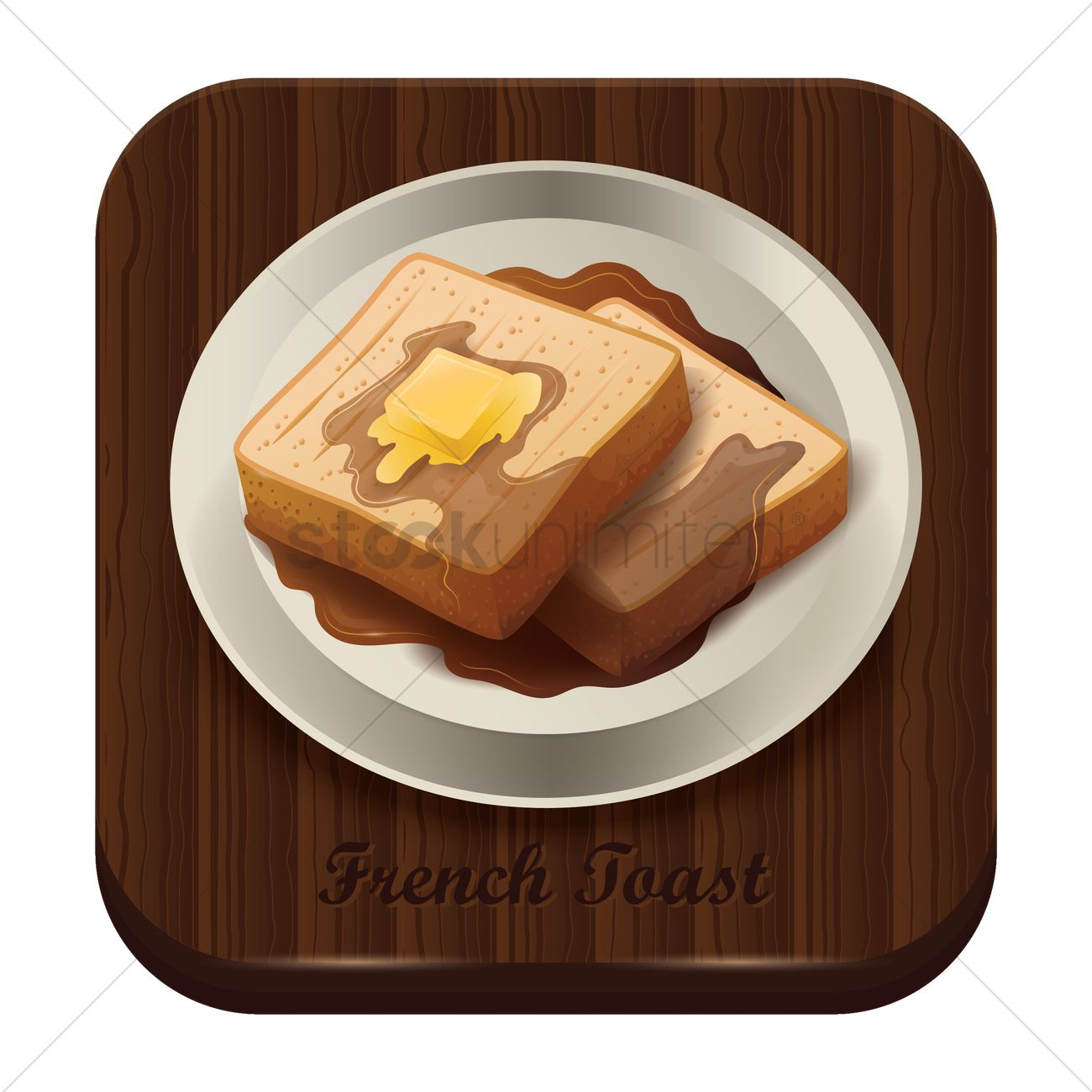 1300x1300 French Toast Vector Image