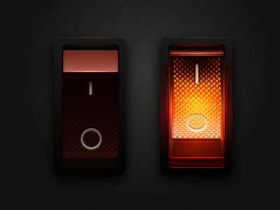 400x300 Lighted Rocker Switch In Vector By Zilch