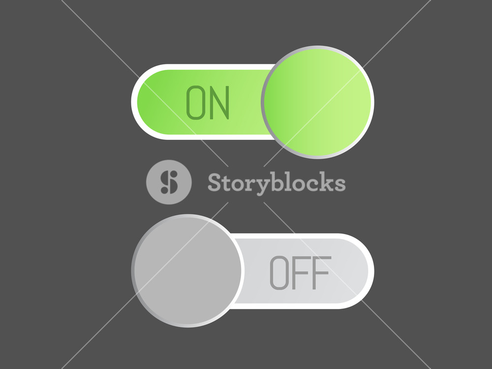 1000x750 The Flat Vector Icon On And Off Toggle Switch Modern Button