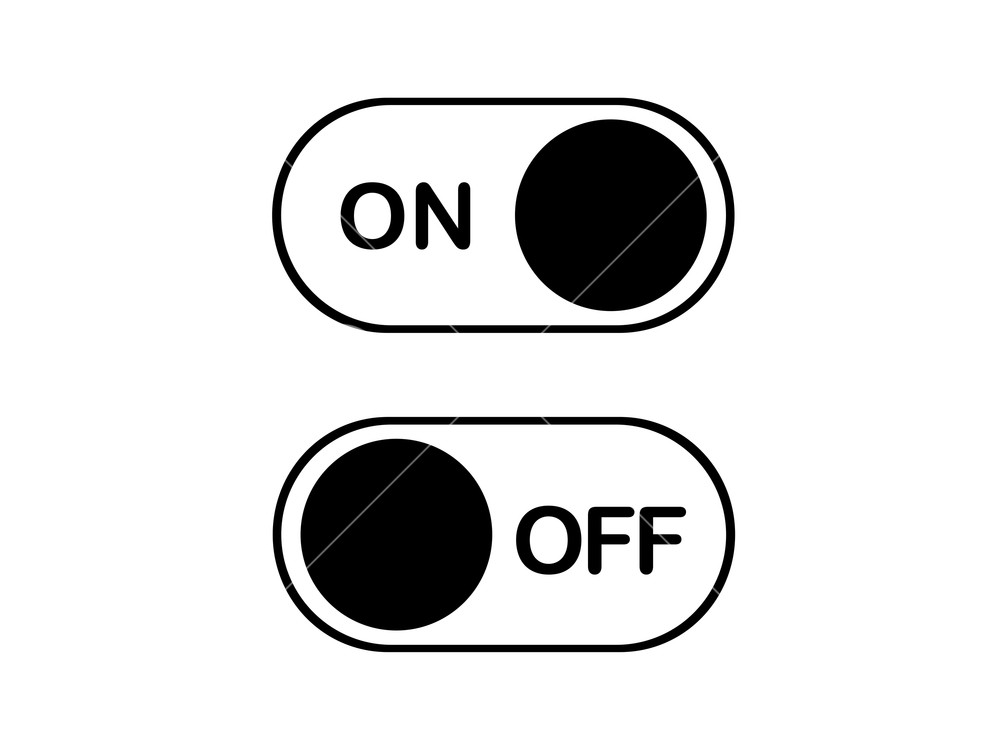 1000x750 The Simple Flat Icon On And Off Toggle Switch Button Vector Format