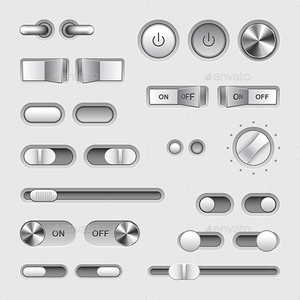 590x590 Toggle Switch Buttons Vector Set By Andegro4ka Graphicriver