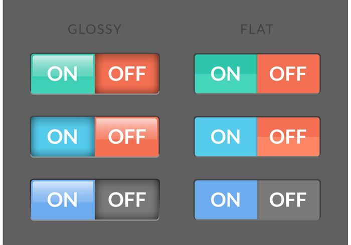 700x490 Toggle Switch On Off Buttons Vector
