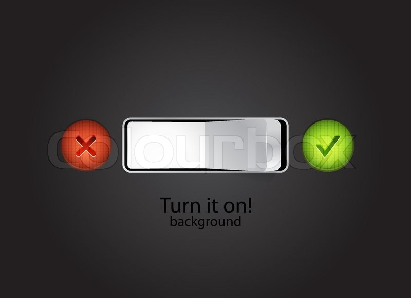 800x579 Toggle Switch On Black Background Stock Vector Colourbox