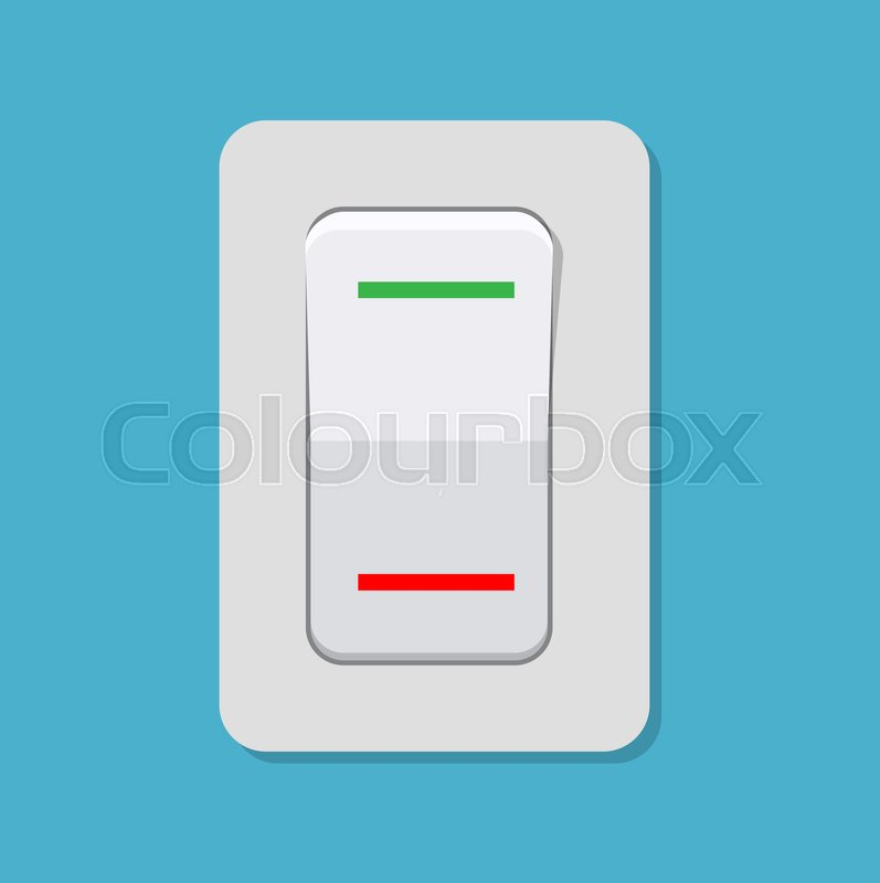 797x800 Toggle Switch. Electric Control Concept. Vector Illustration In