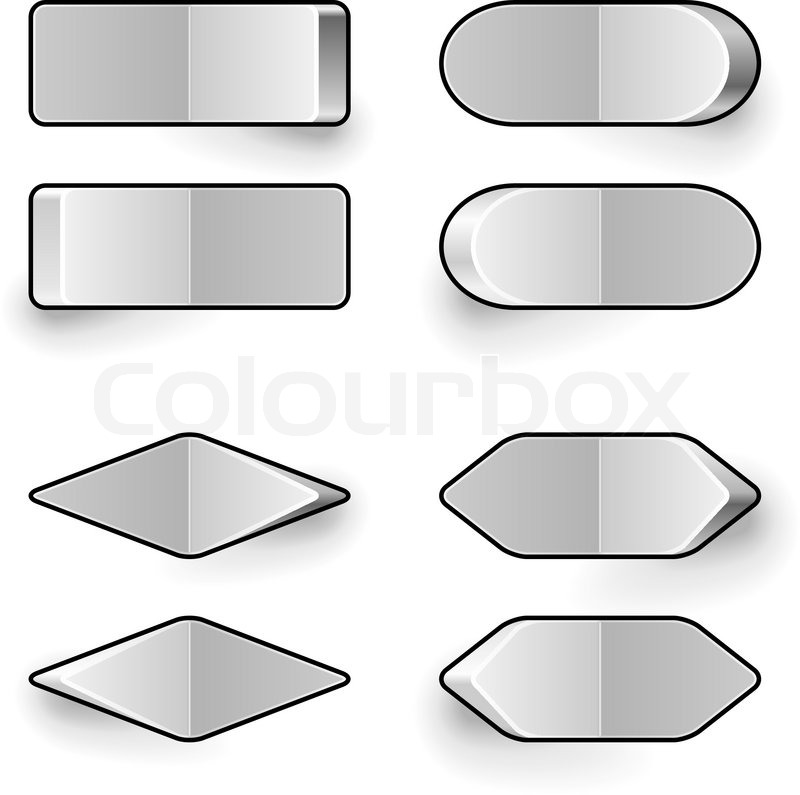 800x795 Blank White Toggle Switch Vector Template. Stock Vector Colourbox