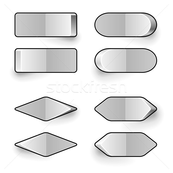 600x600 Blank White Toggle Switch Vector Template. Vector Illustration
