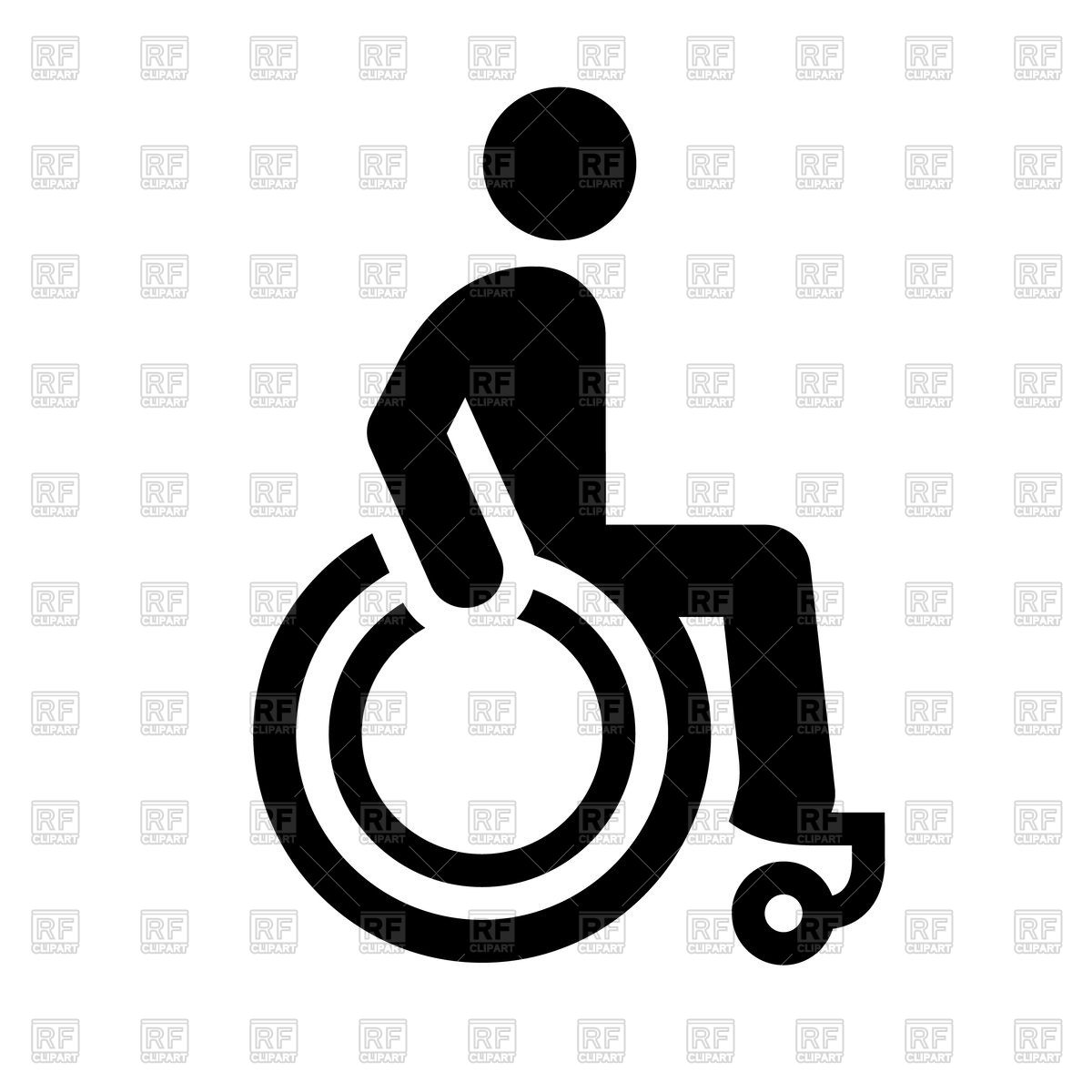 1200x1200 Black Pictogram Toilet Icon, Disability Vector Image Vector