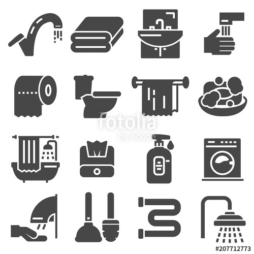 500x500 Toilet Icon. Bathroom Icon. Restroom Icon. Vector Illustration