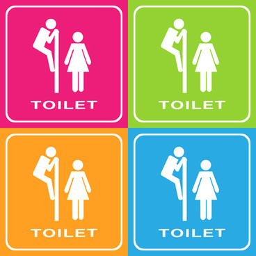 368x368 Toilet Signs Vector Free Vector Download (7,399 Free Vector) For
