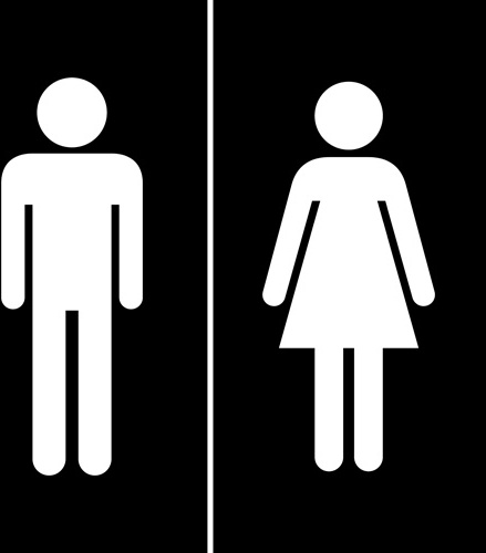 439x500 Vector Toilet Sign Man And Woman Design Free Vector In