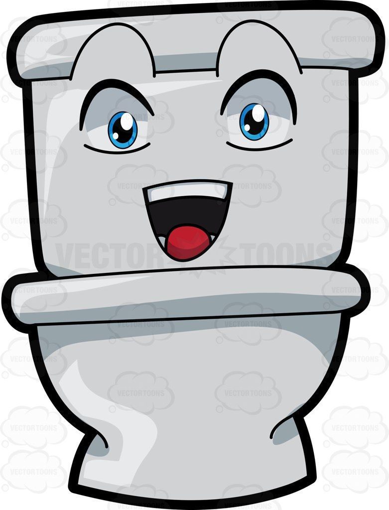 781x1024 A Happy Toilet Seat Vector Illustrations Toilet