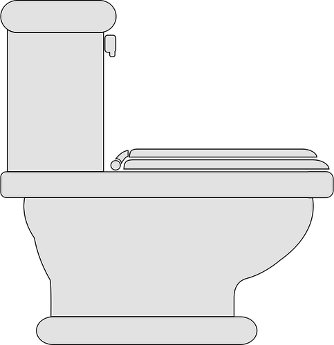 483x500 Toilet Seat Closed Vector Clip Art Public Domain Vectors