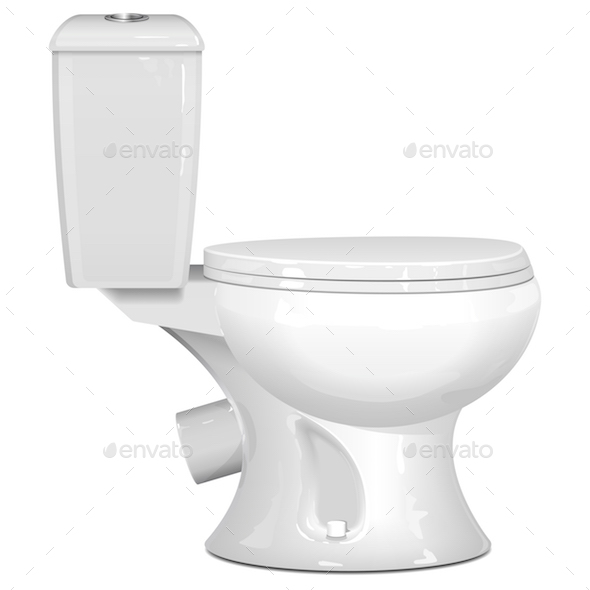 590x590 Vector White Toilet Bowl By Dashadima Graphicriver