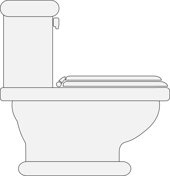 576x596 Toilet Seat Clipart Toilet Seat Closed Clip Art Free Vector In