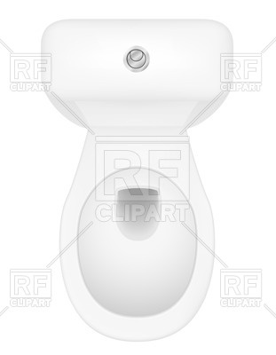 311x400 Open Toilet Bowl Top View Vector Image Vector Artwork Of Objects