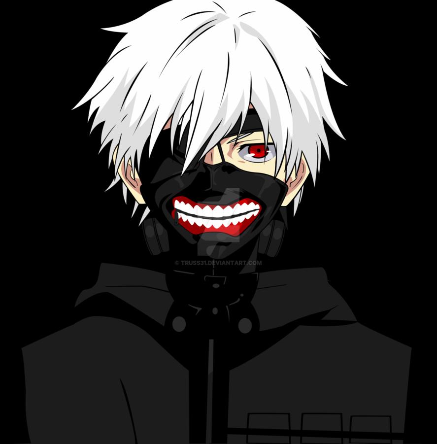 887x901 Kaneki Tokyo Ghoul Vector By Truss31