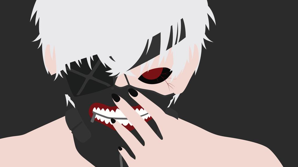 1024x576 Ken Kaneki From Tokyo Ghoul Minimalist By Matsumayu