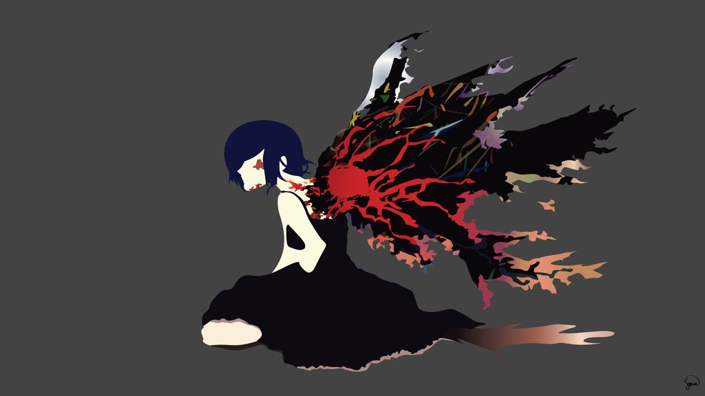1024x576 Touka Kirishima (Tokyo Ghoul) Vector Wallpaper By Greenmapple17 On