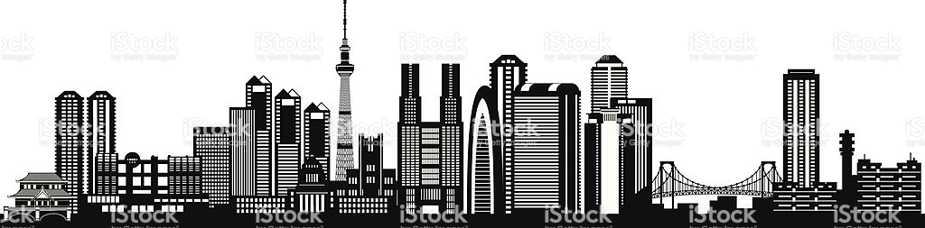 1024x253 Tokyo Clipart Group With Items