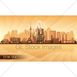 325x325 Tokyo Japan City Skyline Vector Silhouette Gl Stock Images