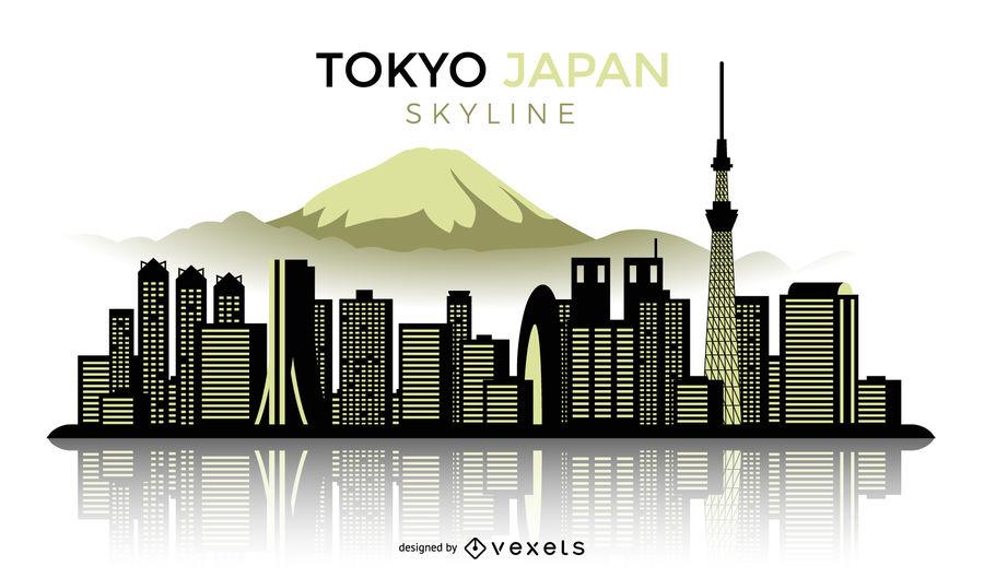 900x529 Tokyo Japan Silhouette Skyline