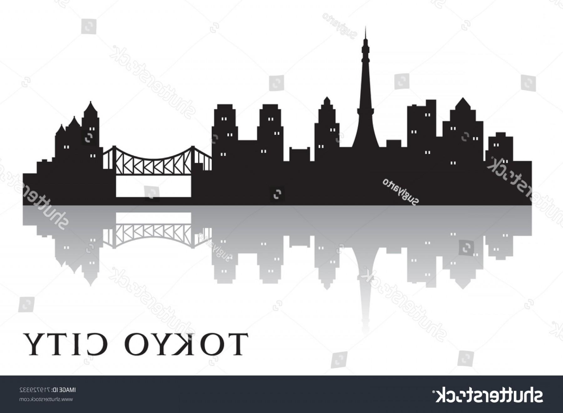 1800x1321 Tokyo Skyline Silhouette Vector City Design Arenawp