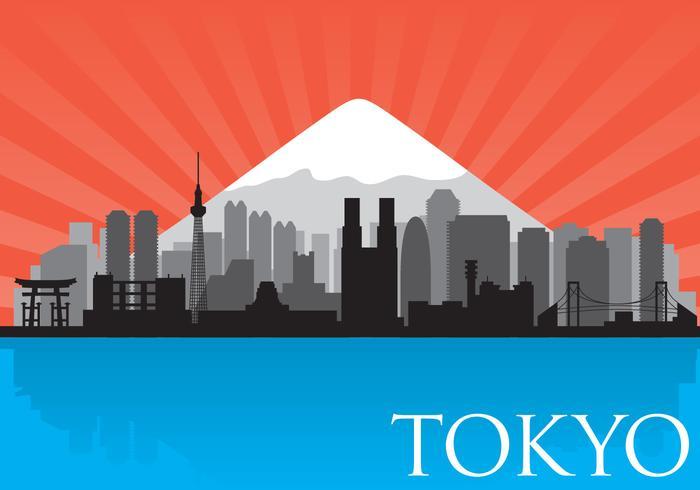 700x490 Tokyo Skyline Vector