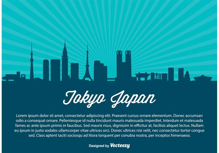 700x490 Tokyo Skyline Vector Illustration