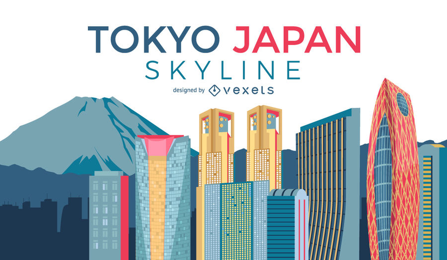 900x525 Tokyo City Skyline