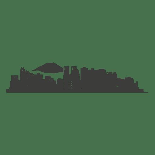 512x512 Tokyo Skyline Silhouette