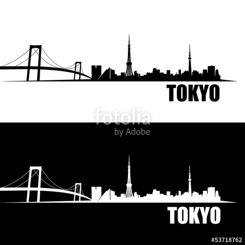 500x500 Tokyo Skyline Wallpaper Stock Image And Royalty Free Vector Files