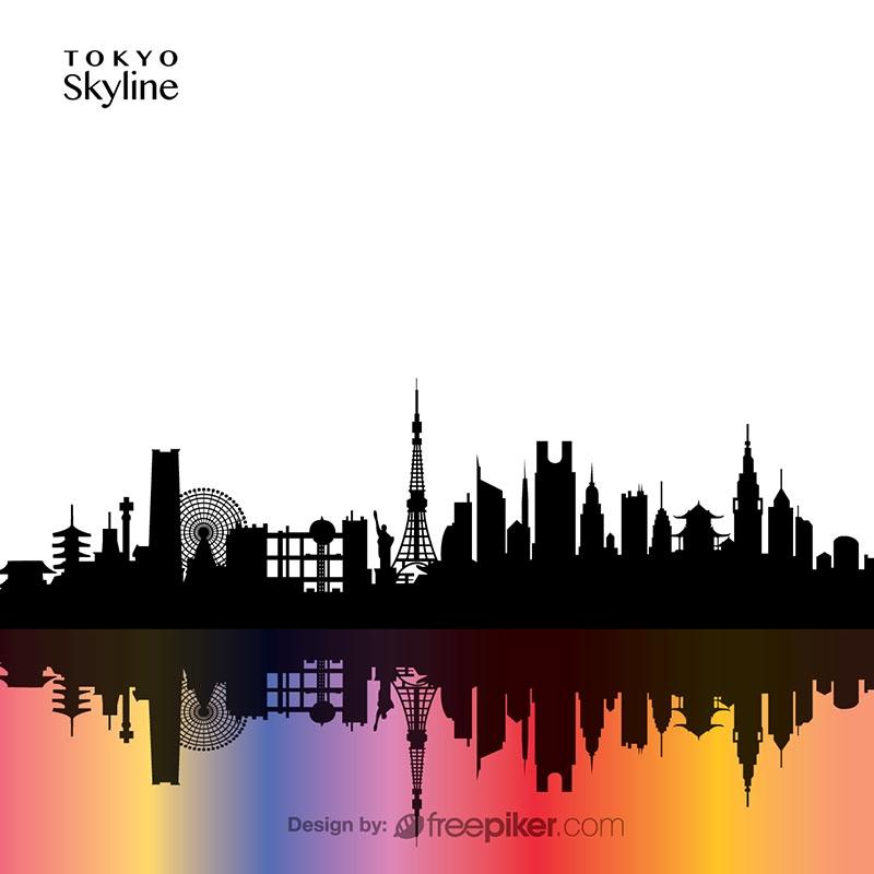800x800 Freepiker Tokyo Skyline