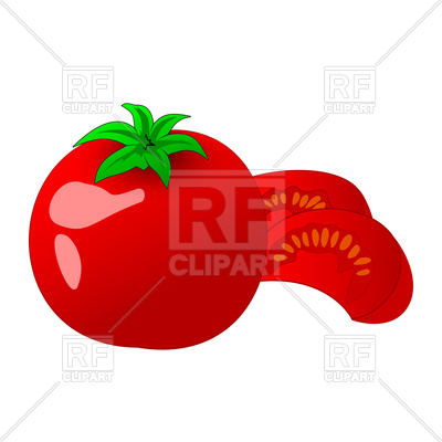 400x400 Tomato And Slice Vector Image Vector Artwork Of Signs, Symbols
