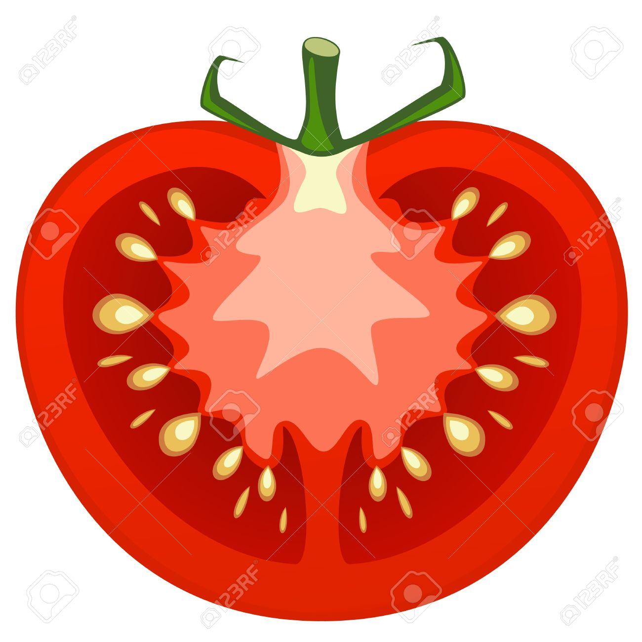 1300x1300 Tomato Slice Vector Clipart Panda