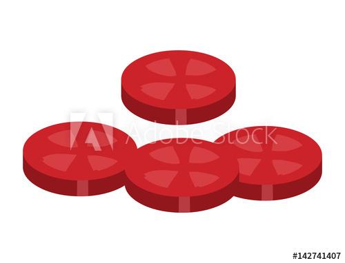 500x382 Tomato Slice For Hamburger Vector Symbol Icon Design.