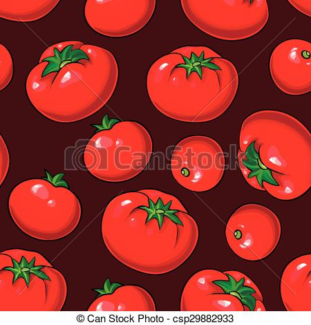 450x470 Vector Seamless Pattern With Tomatoes. Vector Seamless... Vectors