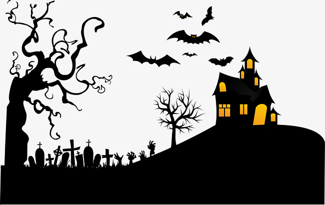 650x410 Haunted Night Tomb Bat Withered Vector, Bat Vector, Bat Clipart